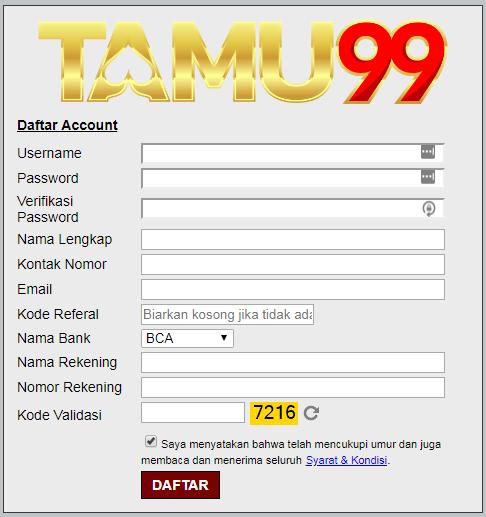 Cara Daftar Tamu99 Situs BandarQ DominoQQ Online